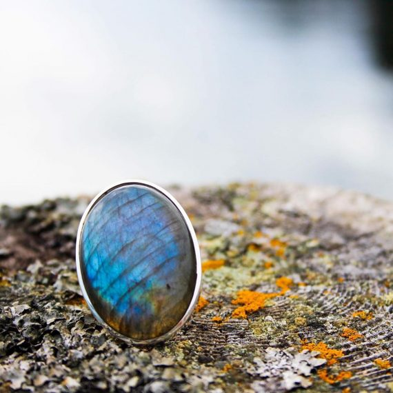 Labradorite ring from Dory Blue